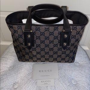 Gucci Small Handbag/Tote Black/Gray Monogram